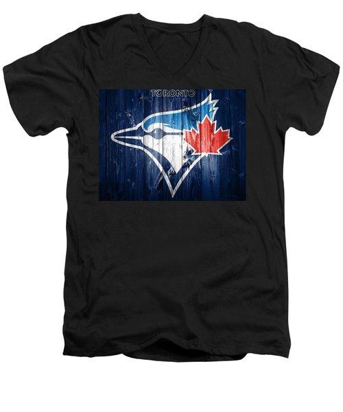 Toronto Blue Jays Barn Door Men's V-Neck T-Shirt