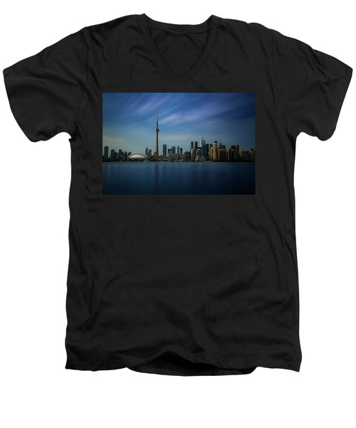 Toronto Cityscape Men's V-Neck T-Shirt