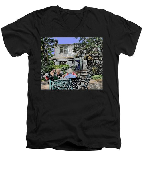 Toronto Island Restaurant Men's V-Neck T-Shirt by Ian  MacDonald