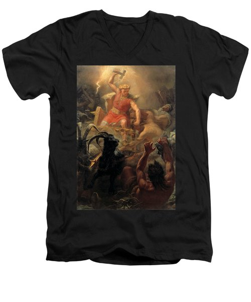 Tor's Fight With The Giants Men's V-Neck T-Shirt