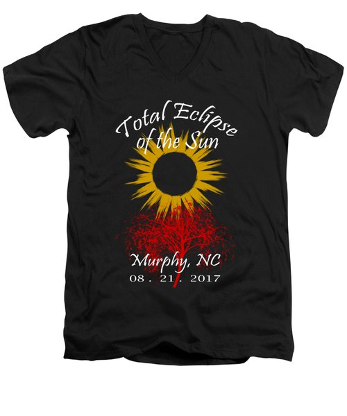 Total Eclipse T-shirt Art Murphy Nc Men's V-Neck T-Shirt