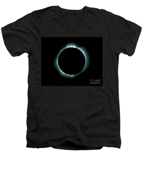 Total Solar Eclipse Men's V-Neck T-Shirt