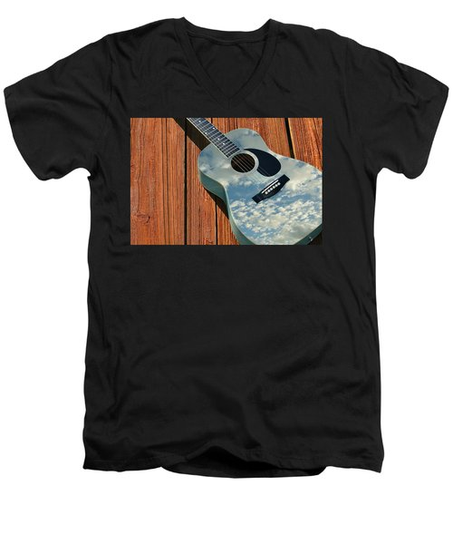 Men's V-Neck T-Shirt featuring the photograph Touch The Sky by Laura Fasulo