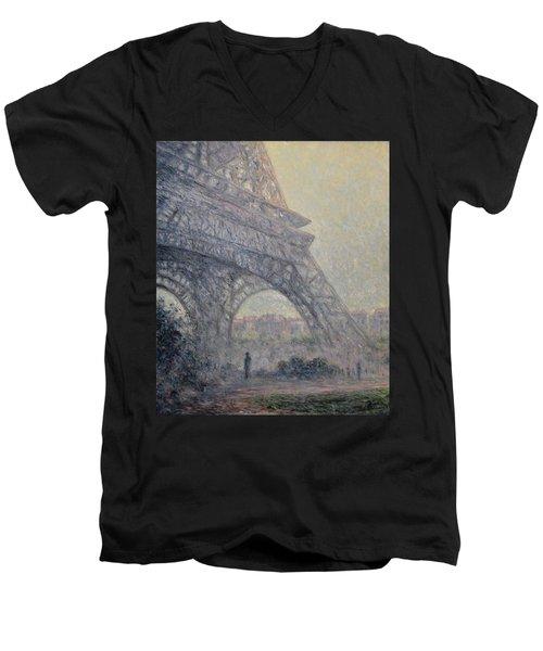 Paris , Tour De Eiffel  Men's V-Neck T-Shirt