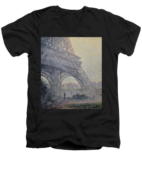 Paris , Tour De Eiffel  Men's V-Neck T-Shirt
