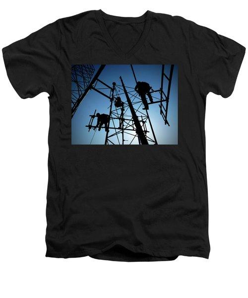 Tower Tech Men's V-Neck T-Shirt by Robert Geary