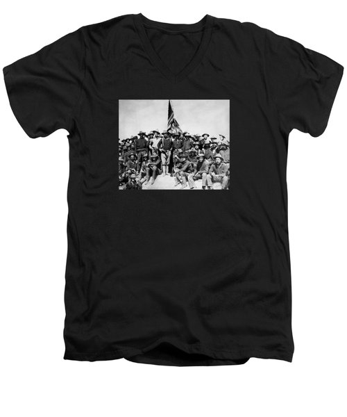 Tr And The Rough Riders Men's V-Neck T-Shirt
