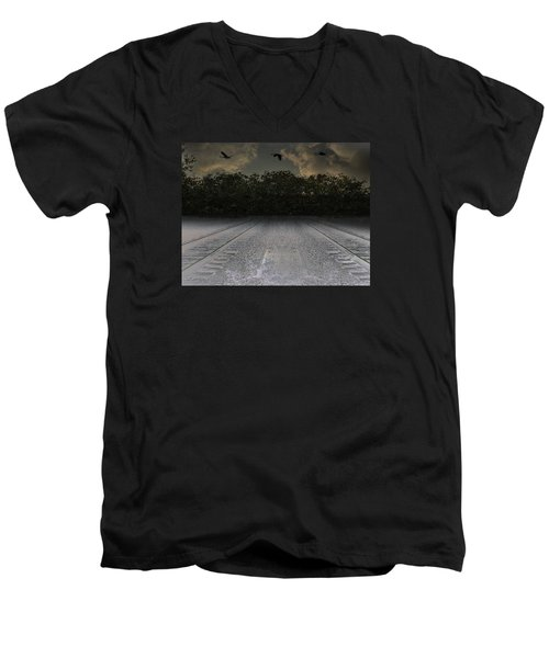 Tracks In The Sky Men's V-Neck T-Shirt