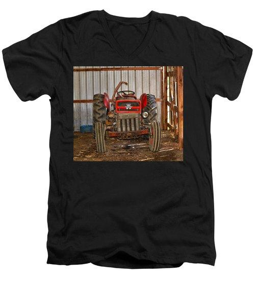 Tractor  Men's V-Neck T-Shirt