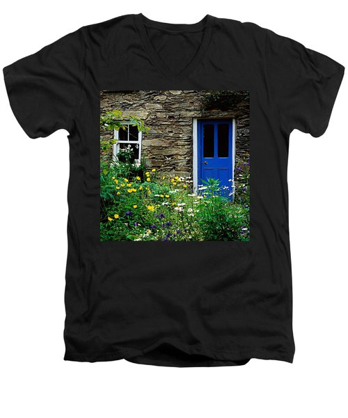 Traditional Cottage, Co Cork Men's V-Neck T-Shirt by The Irish Image Collection