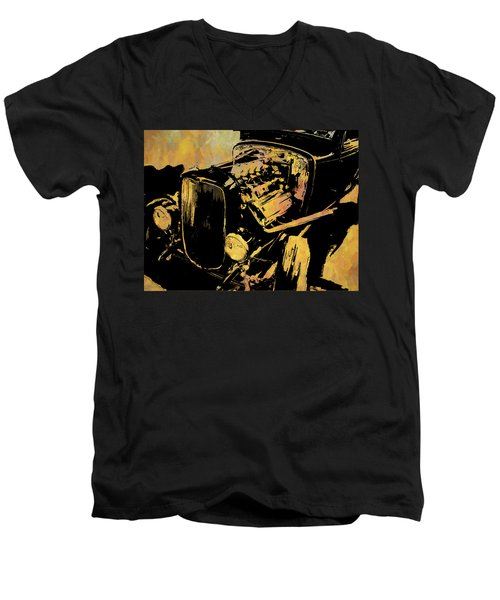 Traditional Hemi Rust Men's V-Neck T-Shirt