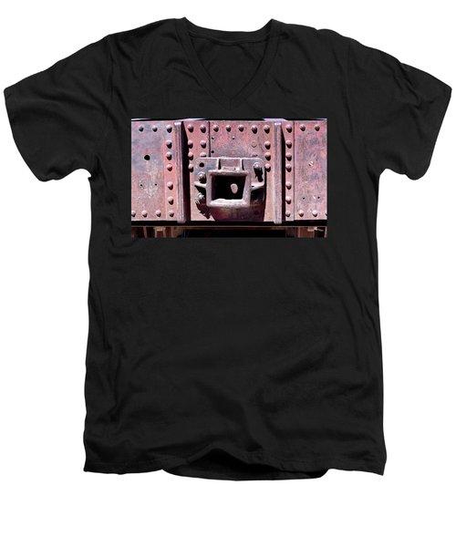 Train Abstract No. 9-1 Men's V-Neck T-Shirt