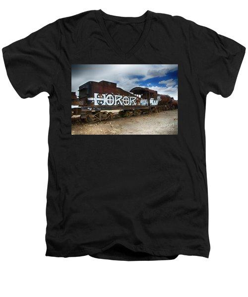 Train Graveyard Uyuni Bolivia 13 Men's V-Neck T-Shirt