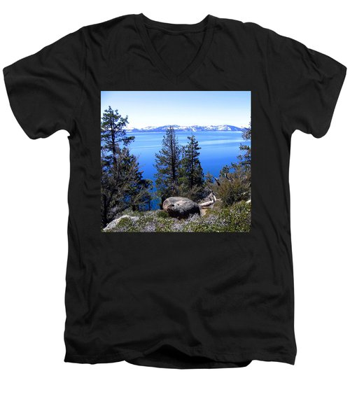 Tranquil Lake Tahoe Men's V-Neck T-Shirt