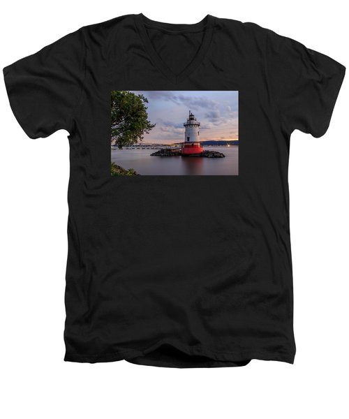 Tranquility Men's V-Neck T-Shirt by Anthony Fields