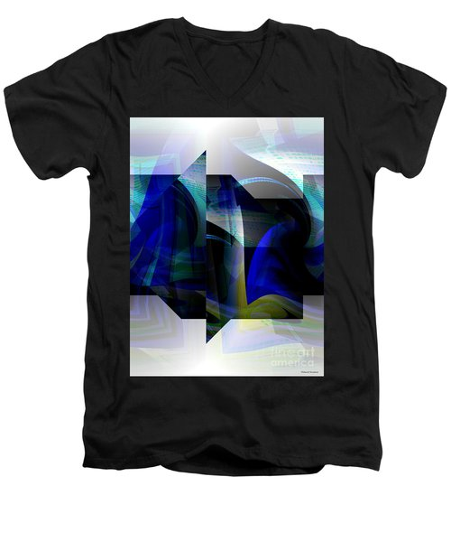 Geometric Transparency  Men's V-Neck T-Shirt by Thibault Toussaint