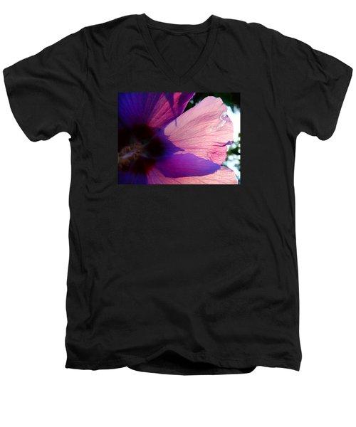 Transparent Men's V-Neck T-Shirt by Justin Moore
