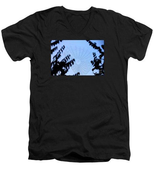 Transparent Web Men's V-Neck T-Shirt