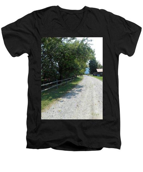 Trapp Family Lodge Rustic Road Men's V-Neck T-Shirt