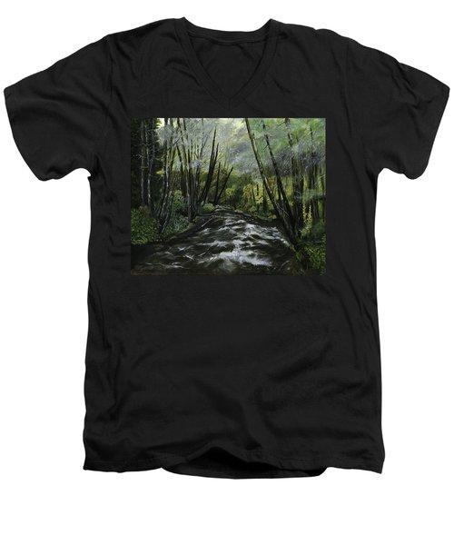 Trask River Men's V-Neck T-Shirt