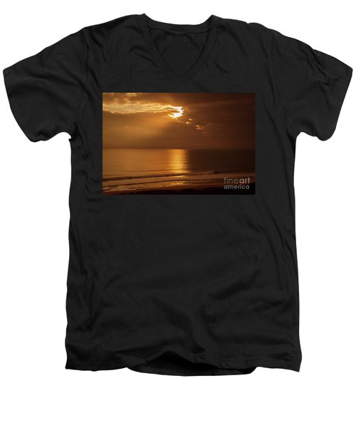 Treasure  Coast Sunrise Men's V-Neck T-Shirt