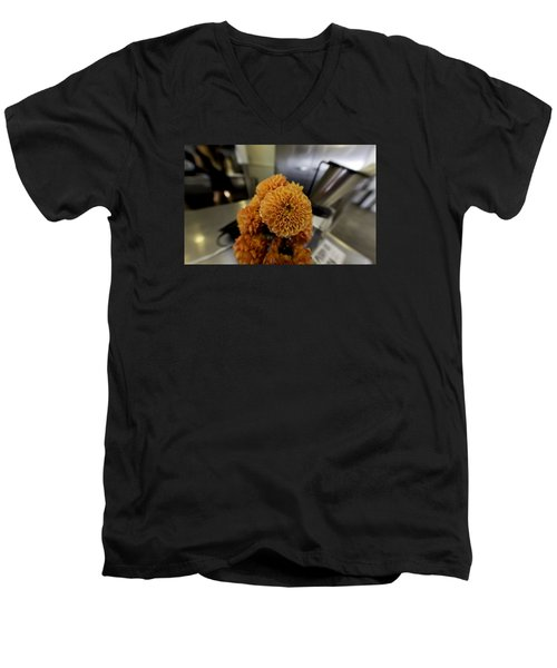 Men's V-Neck T-Shirt featuring the photograph Treats At The Ice Cream Parlor by Lora Lee Chapman