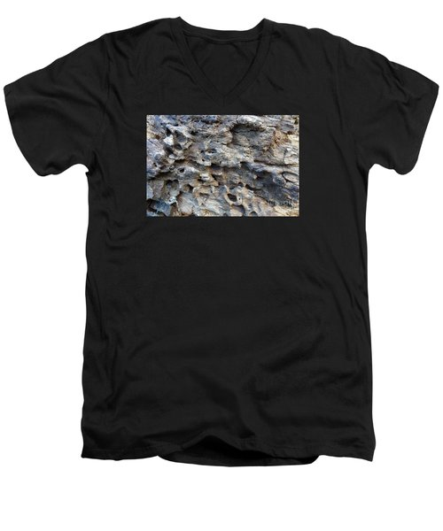 Men's V-Neck T-Shirt featuring the photograph Tree Bark 1 by Jean Bernard Roussilhe