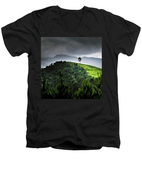Tree In Kilimanjaro Men's V-Neck T-Shirt
