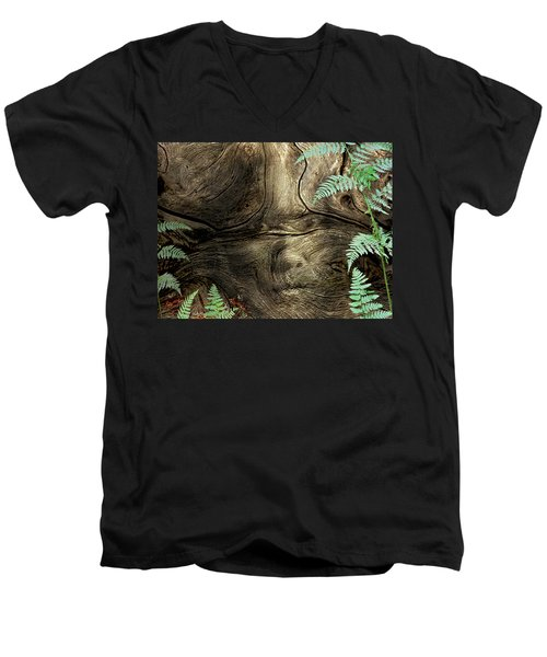 Men's V-Neck T-Shirt featuring the photograph Tree Memories # 32 by Ed Hall