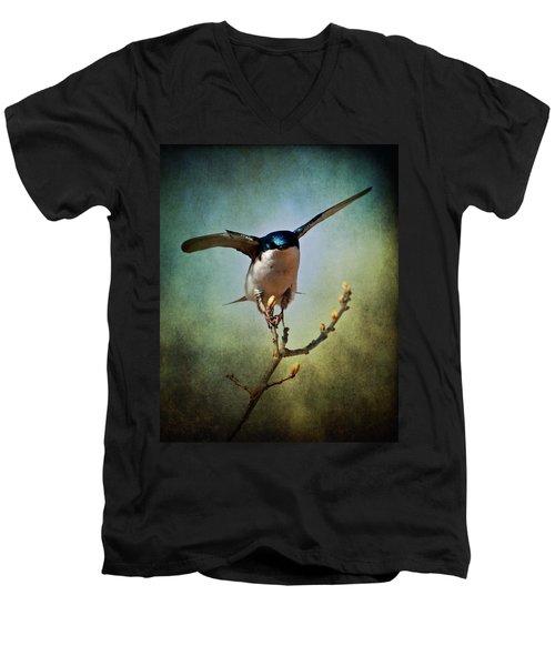 Tree Swallow 2 Men's V-Neck T-Shirt