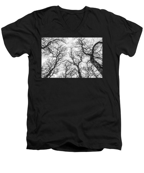Men's V-Neck T-Shirt featuring the photograph Tree Tops by Sue Smith