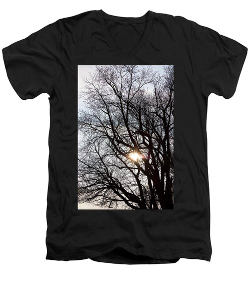 Men's V-Neck T-Shirt featuring the photograph Tree With A Heart by James BO Insogna