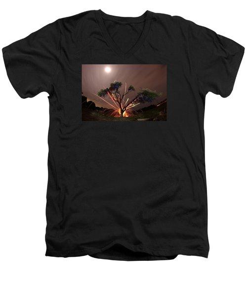 Treeburst Men's V-Neck T-Shirt by Andrew Nourse