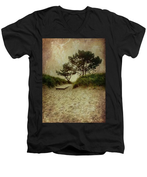 Trees By The Sea Men's V-Neck T-Shirt
