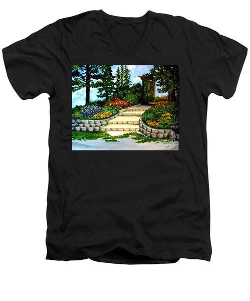 Trellace Gardens Men's V-Neck T-Shirt