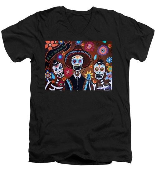 Tres Amigos Mariachi Men's V-Neck T-Shirt