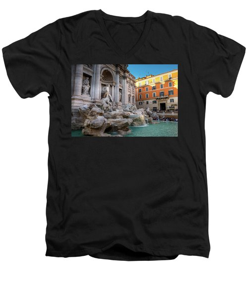 Trevi Fountain Men's V-Neck T-Shirt by Fink Andreas