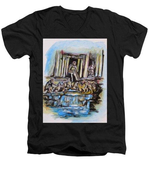 Trevi Fountain, Rome Men's V-Neck T-Shirt