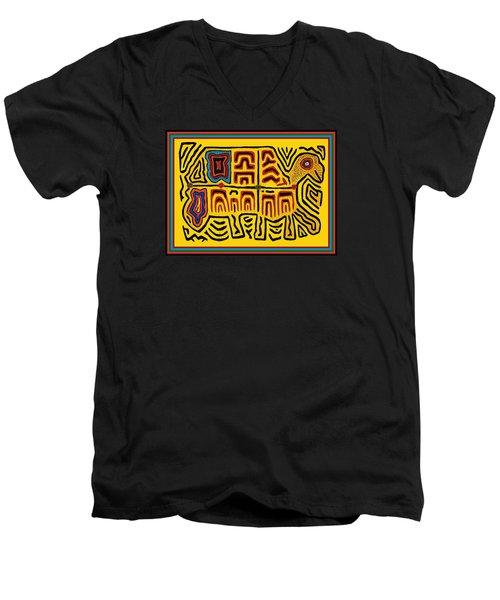 Tribal Turtle Spirit Men's V-Neck T-Shirt