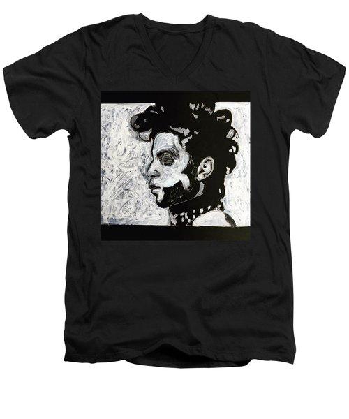 Tribute To Prince Men's V-Neck T-Shirt