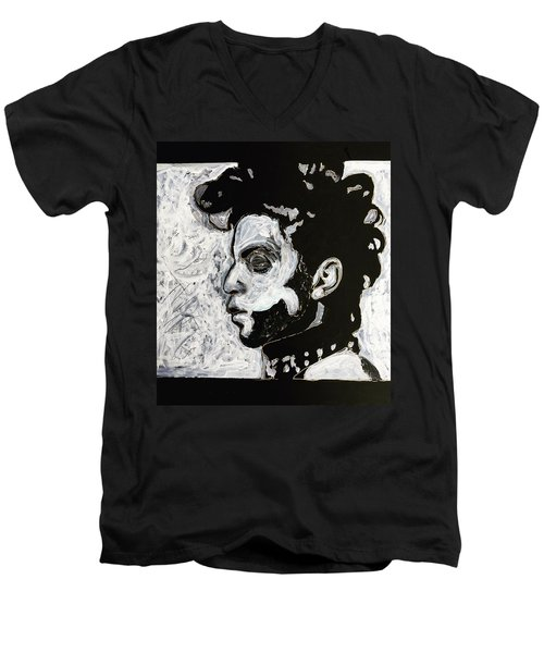 Tribute To Prince Men's V-Neck T-Shirt