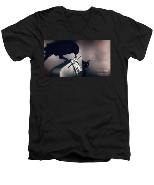Men's V-Neck T-Shirt featuring the photograph Trick Or Treat by Megan Dirsa-DuBois