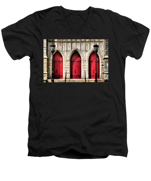 Trinity Lutheran Entrance Men's V-Neck T-Shirt