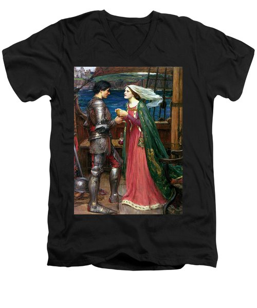 Tristan And Isolde With The Potion Men's V-Neck T-Shirt