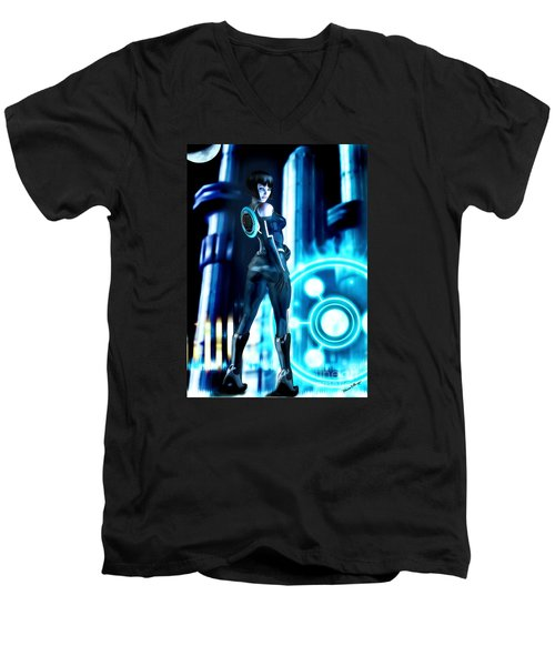 Tron Quorra Men's V-Neck T-Shirt
