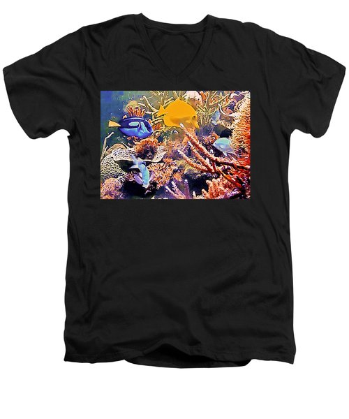 Tropical Fantasy Men's V-Neck T-Shirt