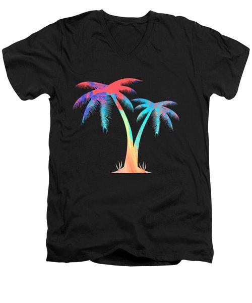 Tropical Palm Trees Men's V-Neck T-Shirt
