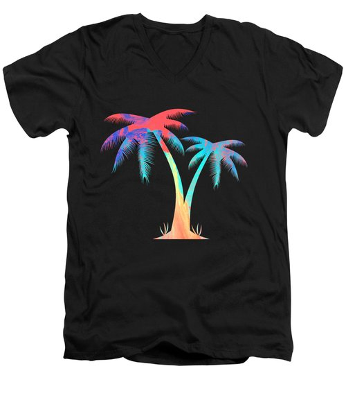 Tropical Palm Trees Men's V-Neck T-Shirt