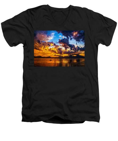 Tropical Twilight I Men's V-Neck T-Shirt