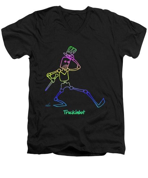 Truckinbot Men's V-Neck T-Shirt